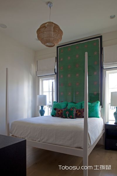 卧室白色床混搭风格效果图