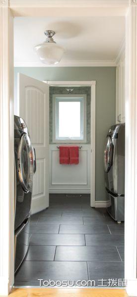 卫生间灰色地砖美式风格装潢图片