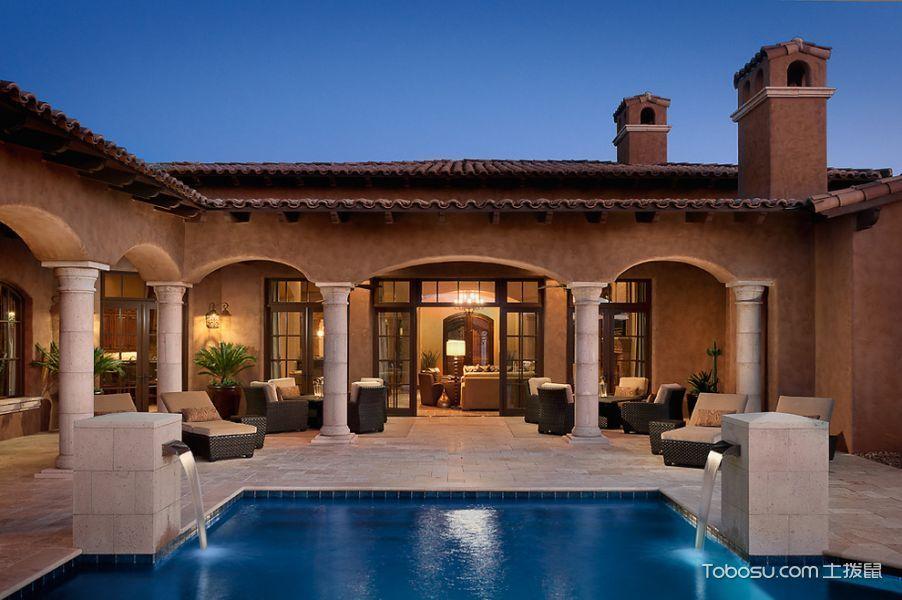 美式泳池装潢实景图片
