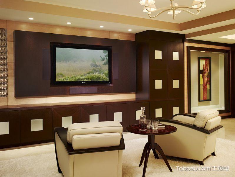 卧室咖啡色茶几现代风格装潢效果图