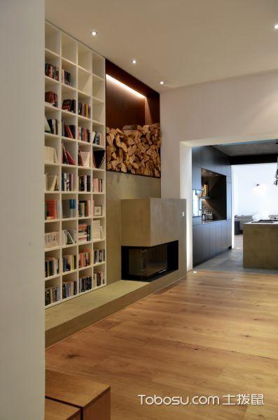 客厅咖啡色地板砖现代风格装潢效果图