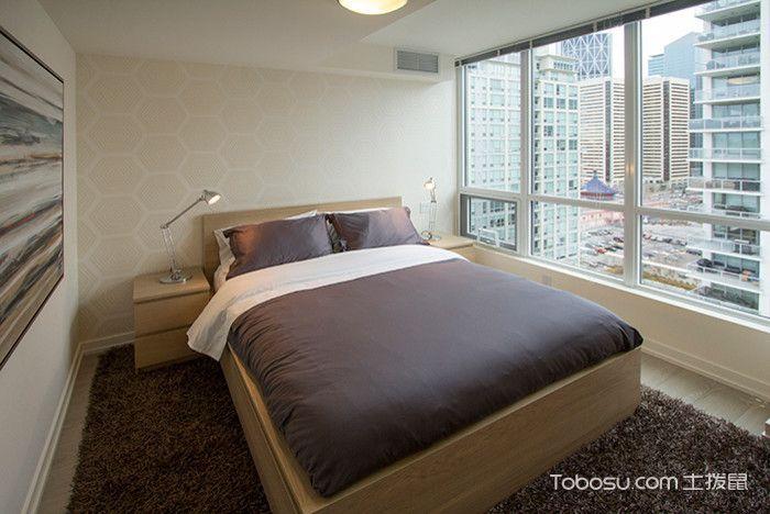 卧室咖啡色床现代风格装修设计图片