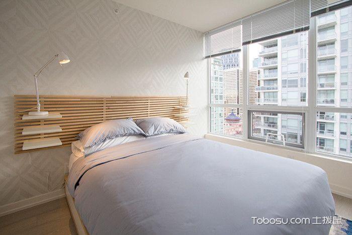 卧室蓝色床现代风格装饰设计图片