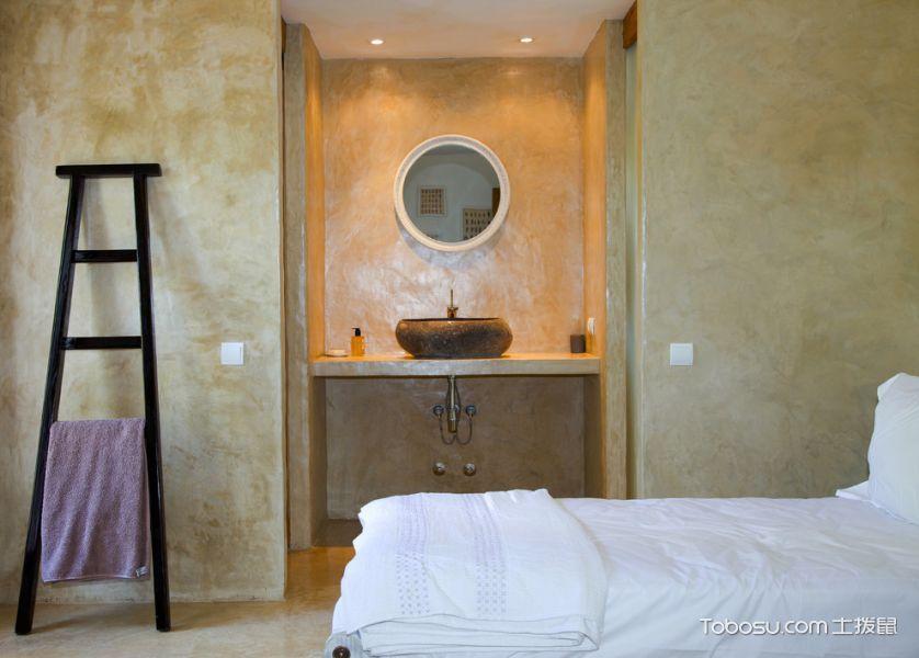 浴室灰色洗漱台混搭风格装潢设计图片