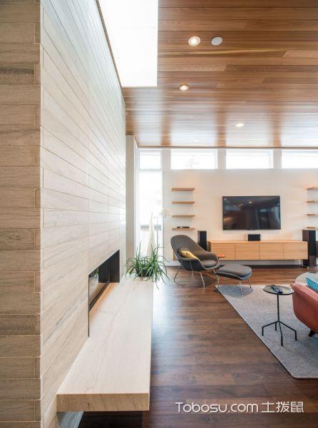 客厅黄色电视柜现代风格装潢设计图片
