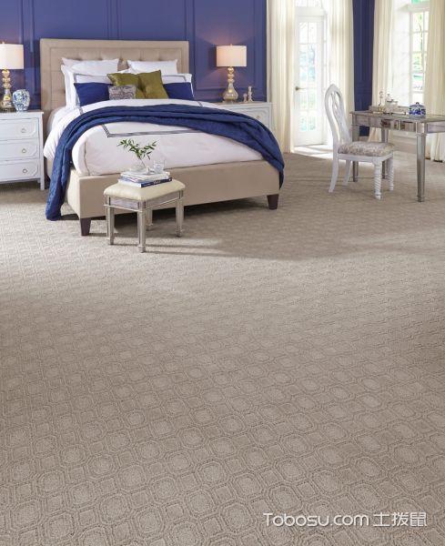 卧室灰色地板砖现代风格装潢设计图片