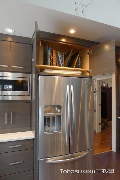 厨房咖啡色橱柜现代风格装饰设计图片