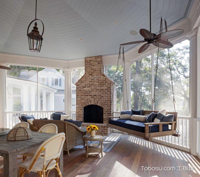 客厅咖啡色地板砖现代风格装修图片