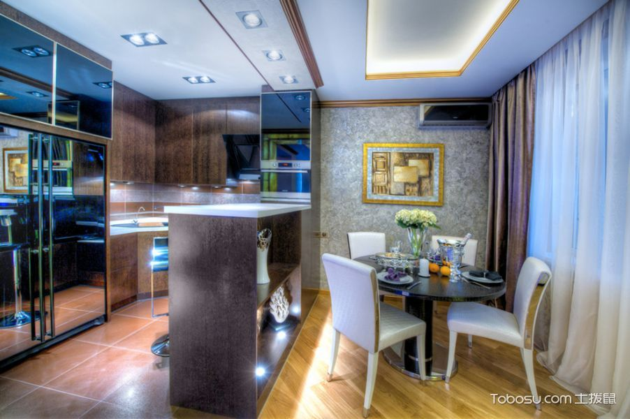 厨房_104平米楼房混搭风格装修图片
