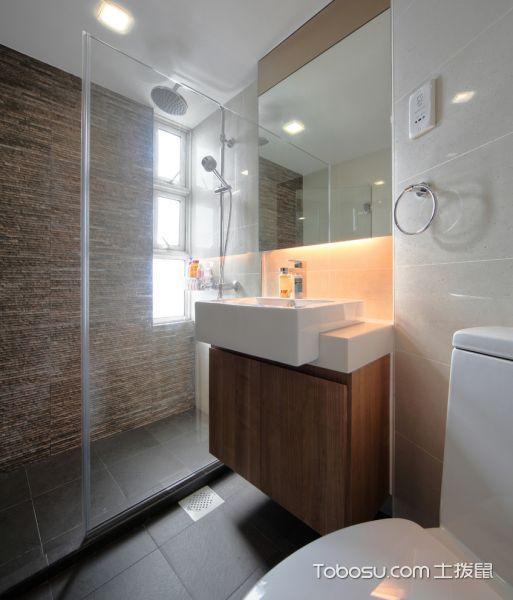 浴室白色洗漱台现代风格装饰效果图