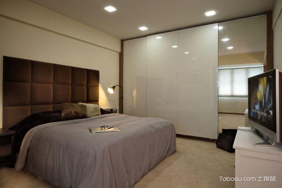 卧室咖啡色床现代风格装饰图片