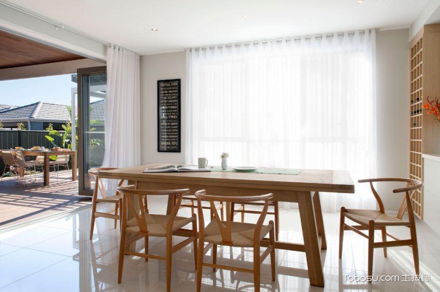 餐厅咖啡色餐桌现代风格装饰设计图片