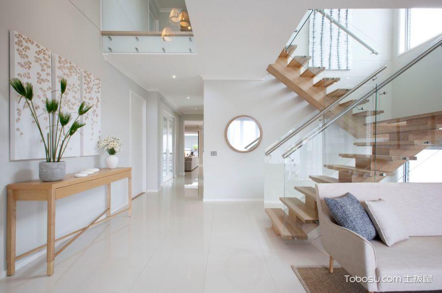 玄关白色门厅现代风格装潢设计图片