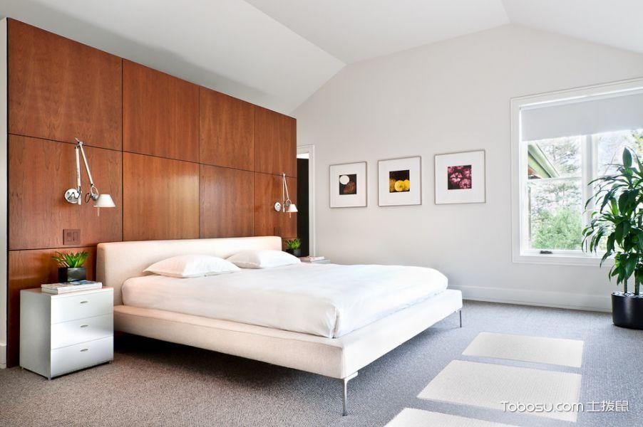 卧室白色床现代风格装饰图片