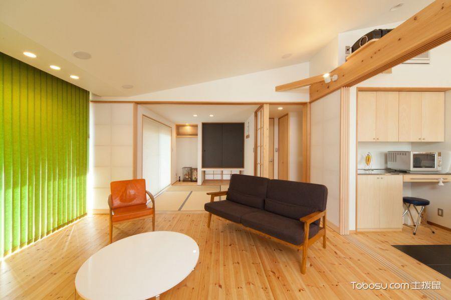 客厅白色背景墙混搭风格装修设计图片