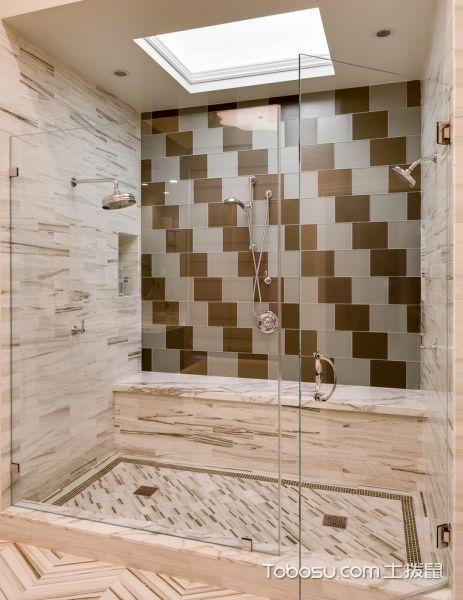 浴室白色背景墙美式风格效果图