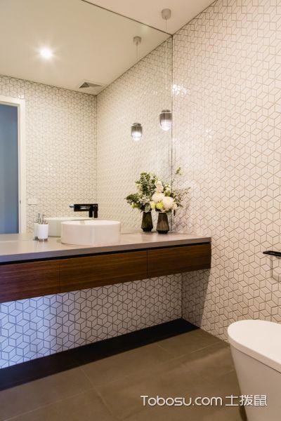 浴室白色背景墙现代风格装饰效果图