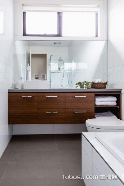 浴室白色背景墙现代风格装潢效果图