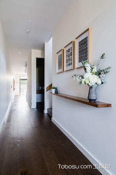 玄关白色走廊现代风格装饰图片