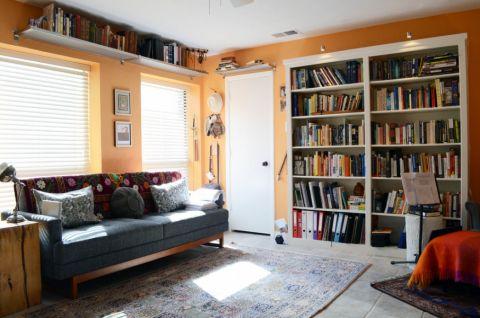 客厅灰色沙发混搭风格装潢图片