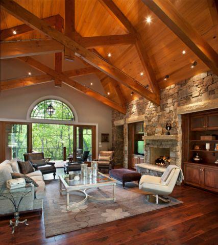 客厅白色茶几美式风格装饰效果图