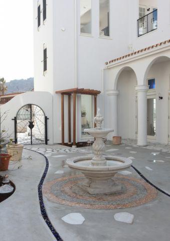阳台地砖地中海风格效果图
