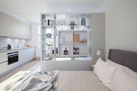 卧室博古架北欧风格装修设计图片