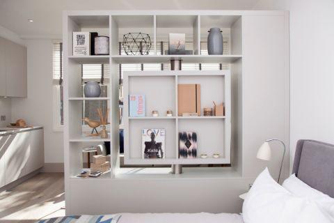 卧室博古架北欧风格装饰设计图片