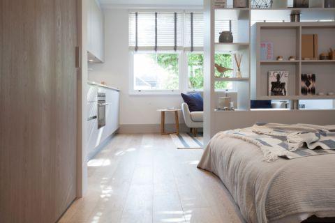 卧室地板砖北欧风格装饰设计图片