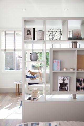 卧室博古架北欧风格装潢设计图片