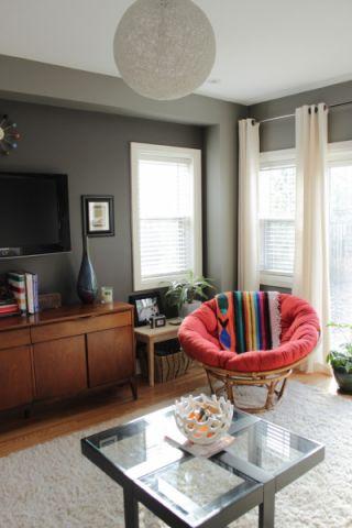 客厅窗帘混搭风格装潢设计图片