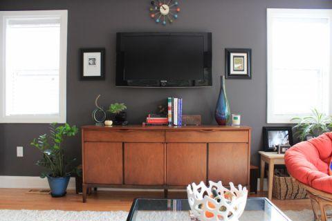 客厅电视柜混搭风格效果图