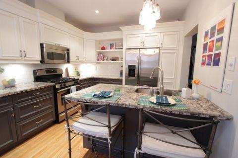 厨房厨房岛台混搭风格装饰效果图