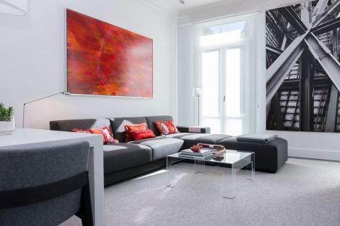 现代风格公寓111平米装修图