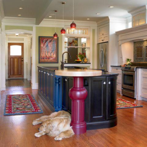 公寓100平米美式风格装饰实景图