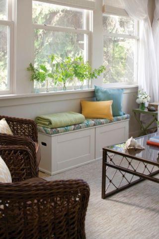 客厅白色窗帘混搭风格装饰效果图