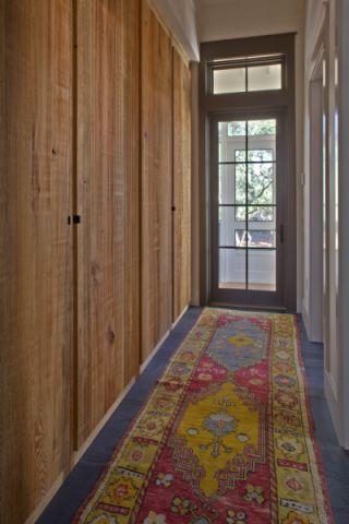 玄关咖啡色走廊混搭风格装修设计图片
