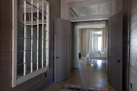 客厅蓝色走廊混搭风格装饰设计图片