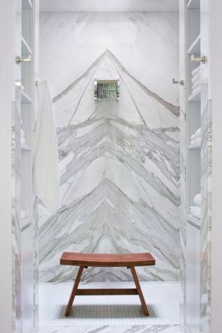 浴室灰色背景墙现代风格装修效果图