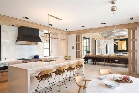 厨房白色厨房岛台现代风格装饰效果图