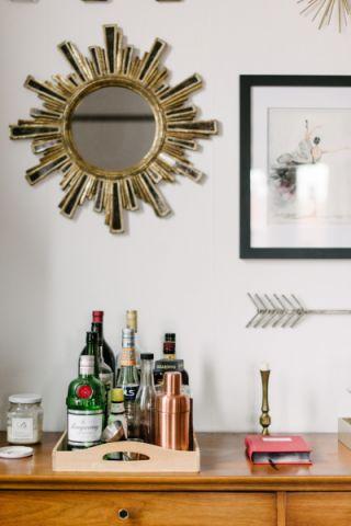 客厅吧台混搭风格装饰设计图片