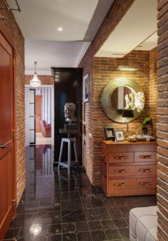 玄关地砖混搭风格装潢图片