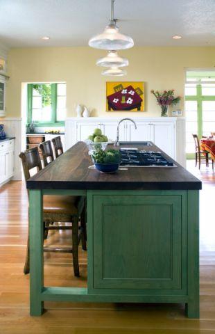 厨房厨房岛台美式风格装饰设计图片