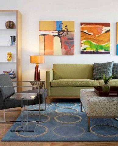 客厅照片墙混搭风格装潢图片