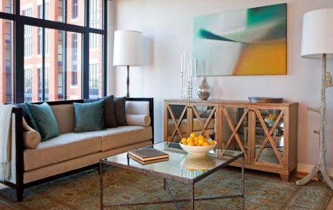 97平米三居室混搭风格装修图片