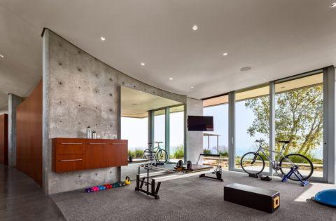 健身房背景墙现代风格装饰效果图