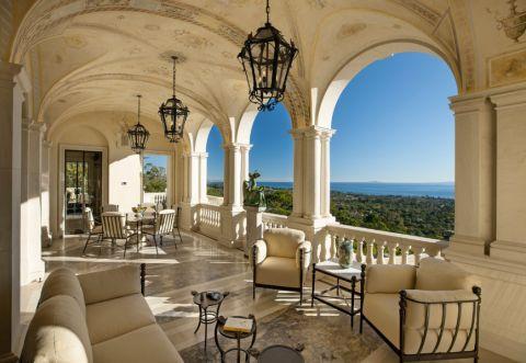 阳台吊顶地中海风格装潢效果图