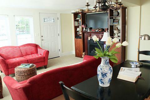 二居室81平米美式风格装修图片