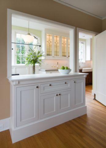 厨房吧台美式风格装修图片