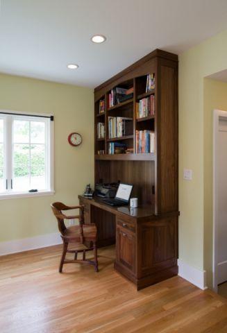 书房背景墙美式风格装修效果图